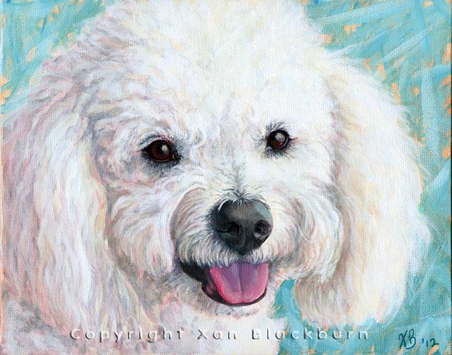 """Alfie"" by Xan Blackburn. Acrylic on canvas panel.  Pet portrait, hound, dog, dog portrait"