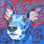 Blue Snickers, by Xan Blackburn, acrylic on canvas