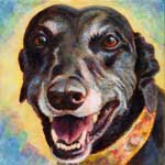 Hailey, by Xan Blackburn, acrylic on canvas