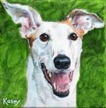 Kasey, by Xan Blackburn, acrylic on canvas